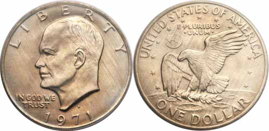 1971-D Eisenhower Dollar Image Values