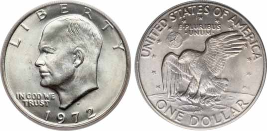 1972-D Eisenhower Dollar Image Values