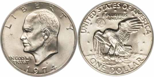 1974-D Eisenhower Dollar Image Values