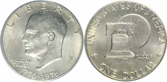 1776-1976 Type I Eisenhower Dollar Image Values
