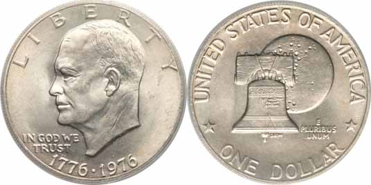 1776-1976 Type II Eisenhower Dollar Image Values