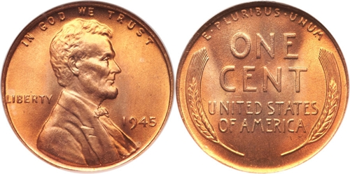 1945 Lincoln Wheat Cent Coin Value Facts